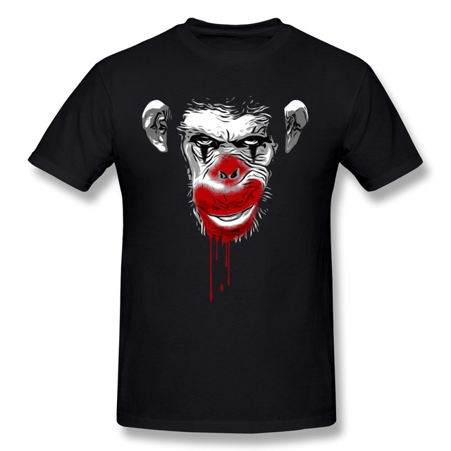 Зло обезьяна клоун мужчины футболки спорт мужчины короткий рукав с круглым вырезом 3D t - рубашки