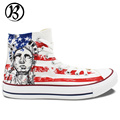 The Stars And Stripes USA Flag Liberty Eagle Painted Shoes Custom Shoes Christmas Birthday Mens Womens