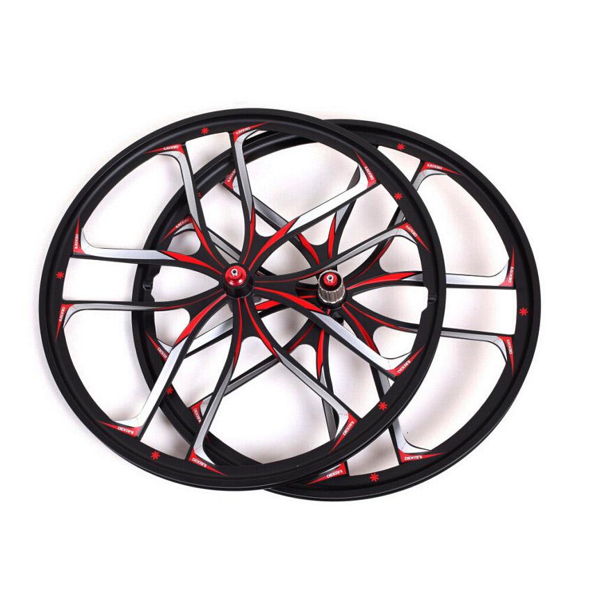 "MTB 5 spokes mountain bike wheels magnesium alloy 26 speeds wheels 26"" 27.5"" inches Mountain Bicycle Wheel parts bike rims(China (Mainland))"