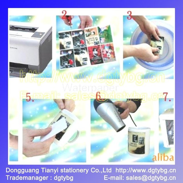 A4 Transparent Water-based Ink-jet Water Transfer Paper inkjet transfer paper thermal transfer paper