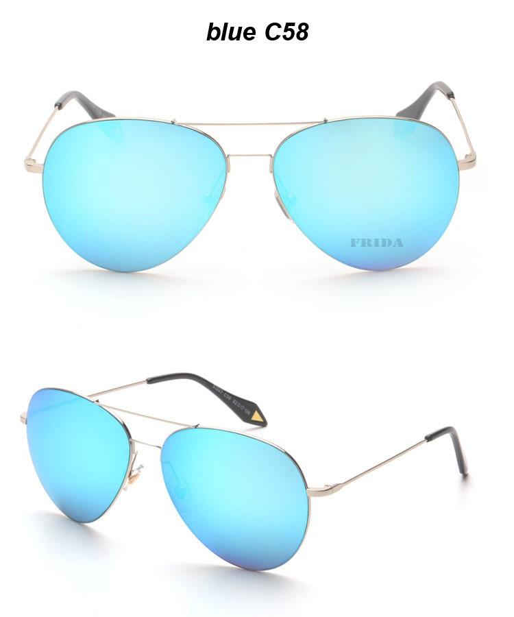 FRIDA 2016 New Fashion VB Brand Sunglasses Women Men Color Coating Ultralight Frame Sun Glasses Oculos De Sol Feminino