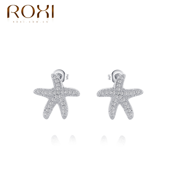 ROXI Brincos Jewellery Genuine Austrian Crystals Platinum Plated Exquisite Starfish Stud Earrings For Fashion Women 102164340<br><br>Aliexpress