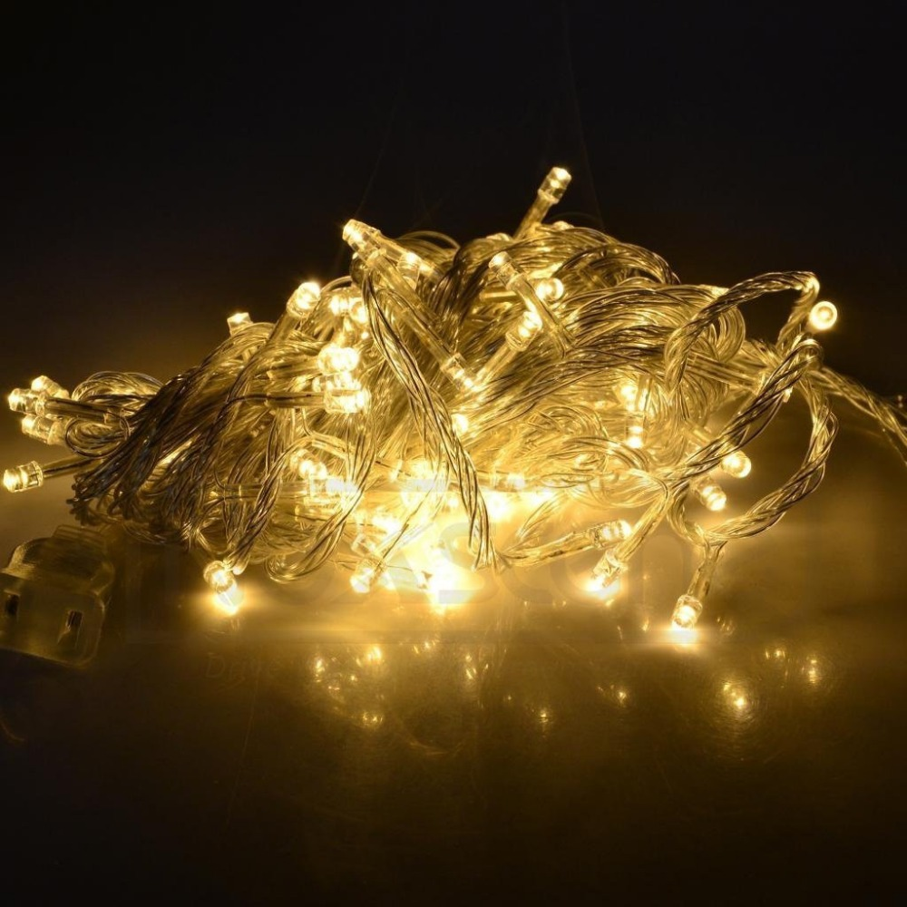 Holiday Outdoor RGB 100 LED String Lights 10M 220V 110V Christmas Xmas Wedding Party Decorations ...
