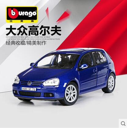 VW Golf Bburago 1:18 Original alloy car model Toy Volkswagen Classic cars Blue  Fast & Furious Birthday gift(China (Mainland))