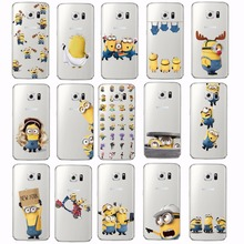 Buy Cute Cartoon Cute Despicable Yellow Minions Soft Clear Phone Case Cover Fundas Coque SAMSUNG Galaxy S5 S6 S7 Edge J5 2015 for $1.43 in AliExpress store