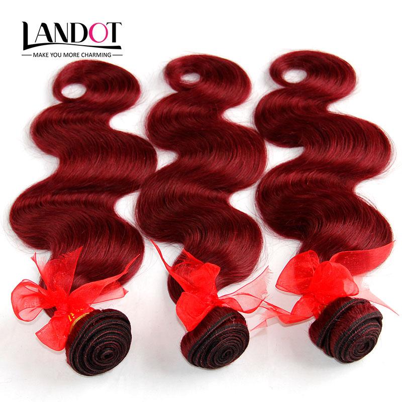 Гаджет  Burgundy Brazilian Hair Weave Bundles Grade 6A Wine Red 99J Brazilian Virgin Remy Human Hair Body Wave 3/4Pcs Rosa Hair Products None Волосы и аксессуары
