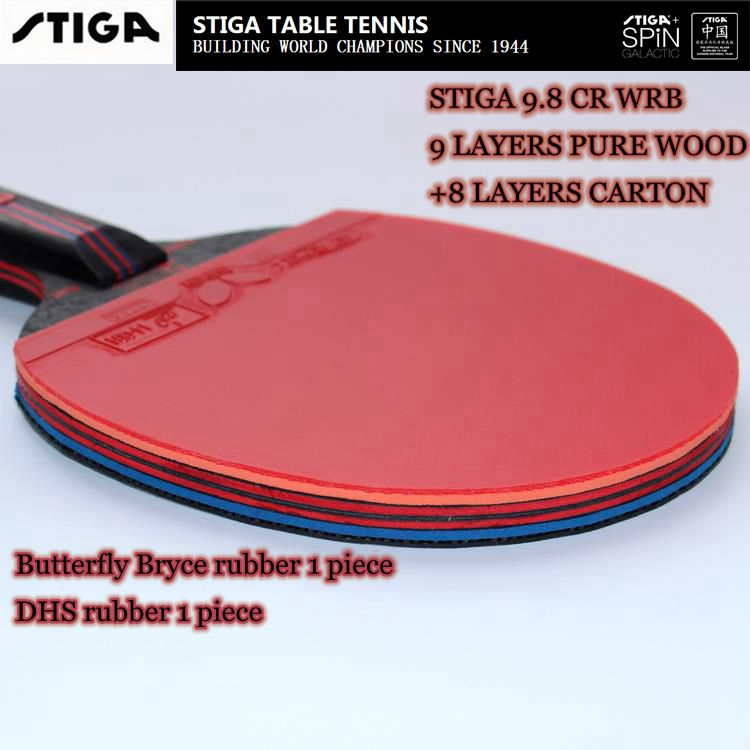 7 free gift Hybrid Wood 9.8 Brand Quality Table tennis racket Ddouble face Pimples-in blue rubber Ping Pong Racket tenis de mesa(China (Mainland))