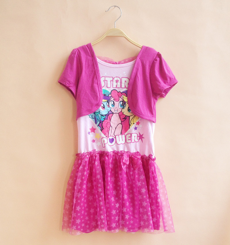 original brand,5pcs/lot little pony Tutu Dresses for 4-6X yrs Baby Girls,pink my best friend false two dress for summer,limited<br><br>Aliexpress