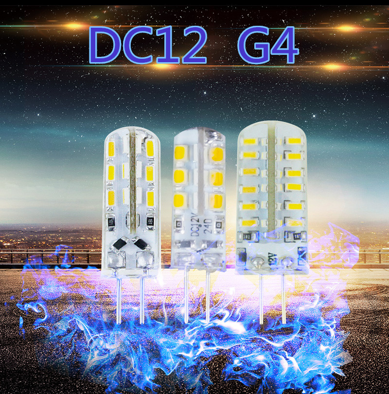 LED G4 led 12v bulb 3W 6W 24led 48led siliconel lamp DC 12V AC 220v led corn bulb Warm cold light replace halogen for Chandelier(China (Mainland))