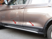 Buy FOR BMW X3 F25 2011 2015 ABS Chrome Exterior Side Door Body Molding Streamer Cover Trim 4pcs Glossy NEW Arrival ! for $34.80 in AliExpress store