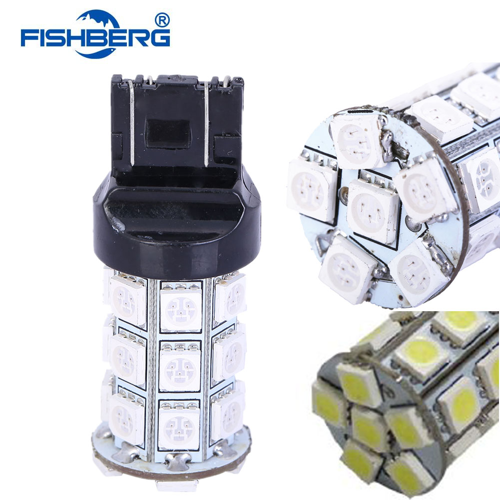 2pcs/lot T20 LED Bulbs W21W 27 SMD 5050 Daytime Running Lights Reverse Driving Lights Signal Lamps 7440 7441 992 992A FISHBERG(China (Mainland))