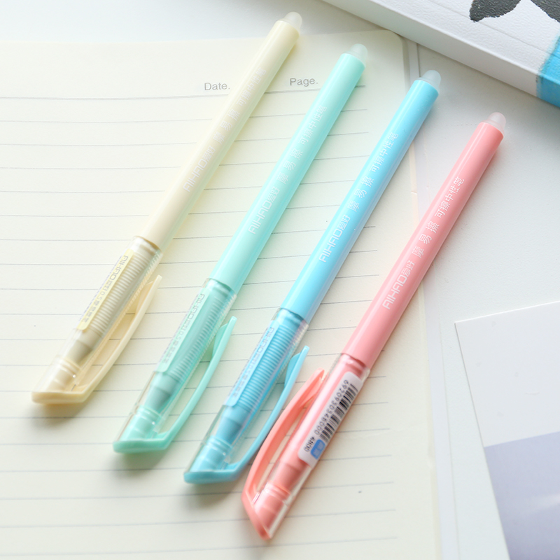 Q South Korea stationery friction easy to wipe erasable pen 0.5mm Macarons color students water pen(China (Mainland))