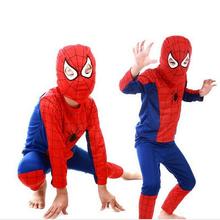 Children Clothing Sets Spider Man  Cosplay Costume Kids Pajama Sets,Long Sleeve Toddler Baby Sleepwear