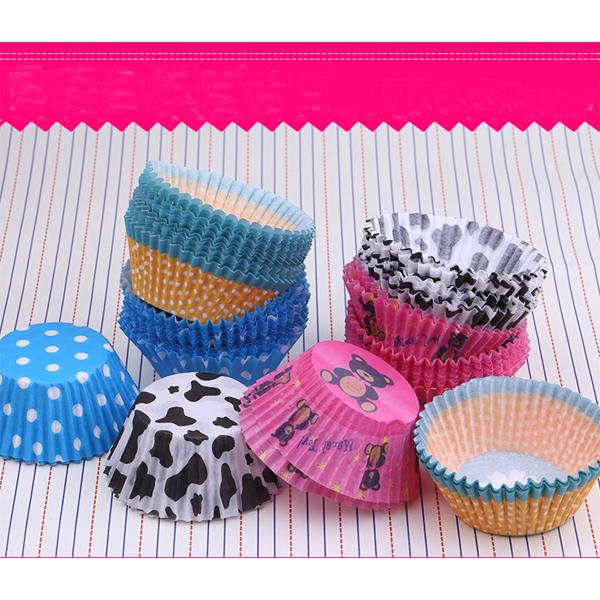 100pcs Original Mini Round Cake Paper Holds Greaseproof Baking Cupcake Cases(China (Mainland))