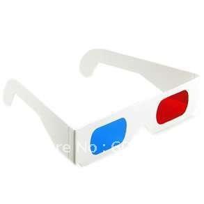 free shipping 100pcs/lot paper 3d glasses,white paper 3d glasses(China (Mainland))