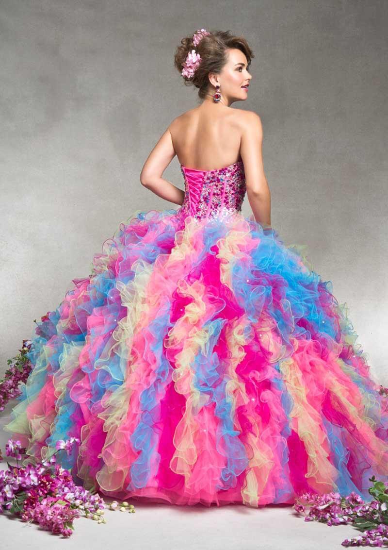Hermosa Vestidos De Novia Del Arco Iris Ideas Ornamento Elaboración ...