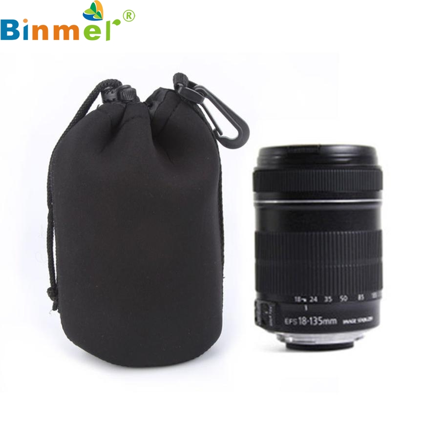 Top 1PC L Size Neoprene Soft Waterproof Bag SLR Camera Lens Cover Flexible Pouch Black Canon Nikon Sony MAY24