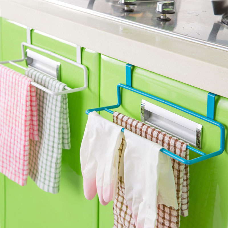 Creative Kitchen bathroom cloth towel clothes hang storage holders Household Items Cabinet door hang Double layer receive frame(China (Mainland))