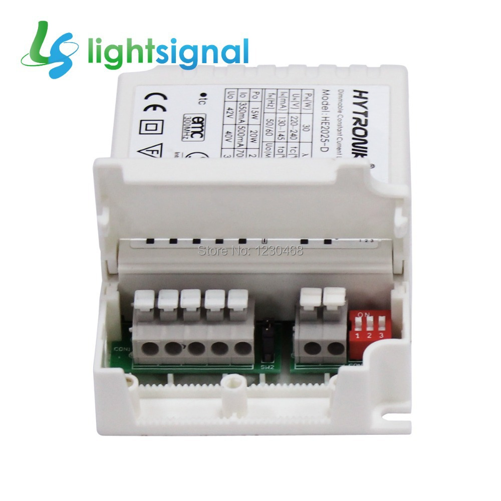 25W selectable constant current dimmable LED driver,350ma / 500mA /700mA / 900mA, with 1~10v dimming & switch-dim(China (Mainland))