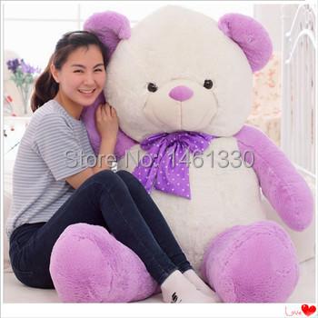 Teddy bear plush valentine's day purple teddy bears giant stuffed bear toys girls birthday christmas gift soft toy kids toys(China (Mainland))