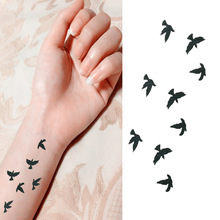 Water Transfer Flash Fake Tattoo Sticker Sex Products Waterproof Temporary Tattoo Sticker The Wind Wind Blown Feathers CH73(China (Mainland))