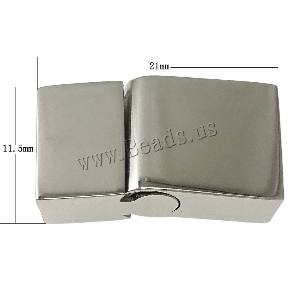Drop shipping! 10 PCs original color 21x11.50x6mm Rectangle Stainless Steel Magnetic Clasp Jewelry