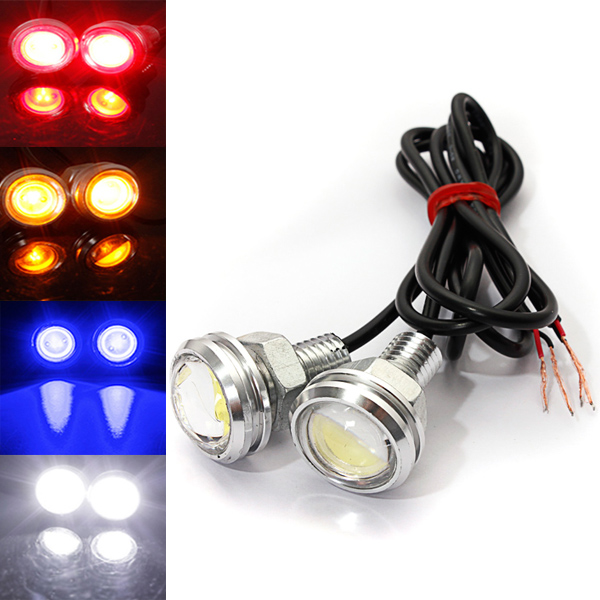 Car DIY New 2Pcs 9W Auto Car Eagle Eye Daytime Running DRL Tail LED Light Backup Lamp Multi-Colors (22*32mm)(China (Mainland))