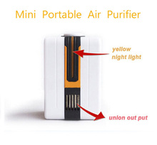 Portable Negative Ion Air Purifier Ozonator Air Cleaner Oxygen Bar Purify Air Kill Bacteria Virus Ionizer Send Universal Plug(China (Mainland))