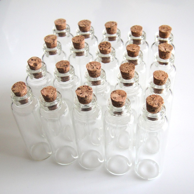 20 Pcs 16x50mm 5ml Wish Bottles Tiny Small Empty Clear Cork Glass Bottles Vials For Wedding Holiday Decoration Christmas Gifts(China (Mainland))