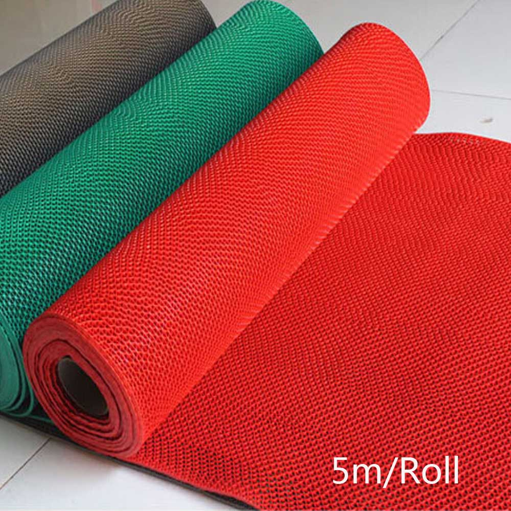 5m/roll Non-Slip Bath Room Mat Bathroom Rug Floor Carpet PVC Plaid Toilet Shower Kitchen Living Room Mats Waterproof Red Carpets(China (Mainland))