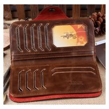 Special Promotion Long Bailini New Men s Vintage Wallet Fine Bifold Brown Genuine Leather Pu Bailini
