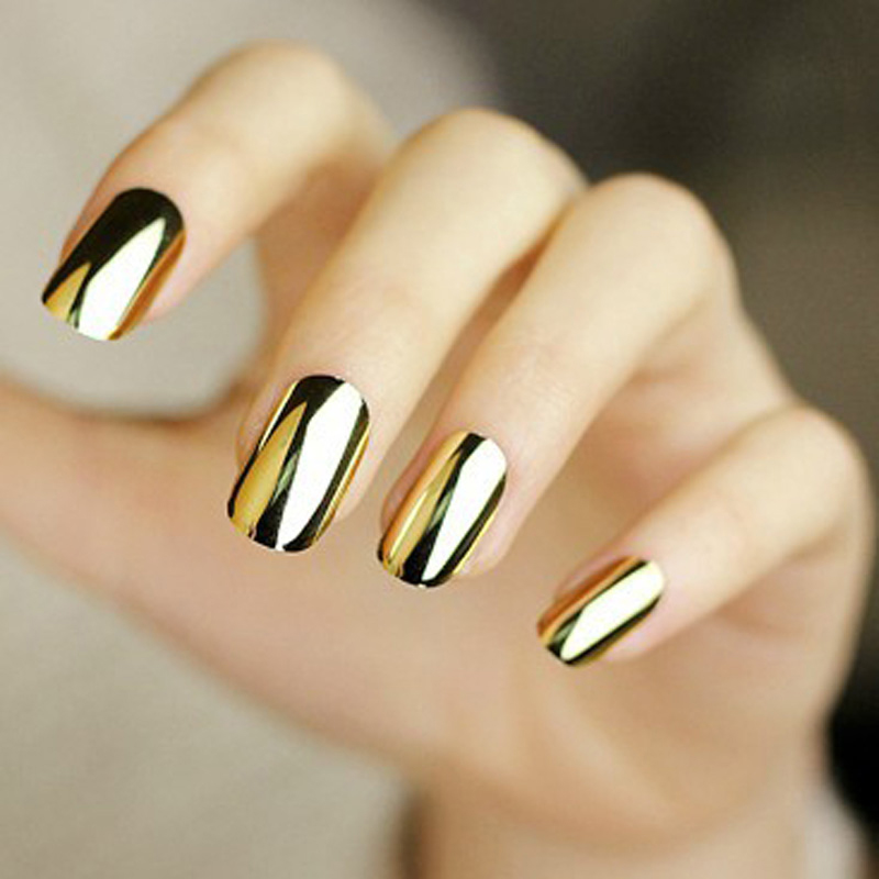 1PCS Nail Art Sticker Patch Punk Rock Styles Metal Colour Nail Art Gold Or Silver Nail Stickers For Nail Stickers Water(China (Mainland))