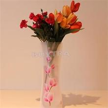 1 PCS 27.4 x 11.7cm Foldable Folding Flower PVC Durable Vase Decor Home Wedding Party Decoration Wholesale(China (Mainland))