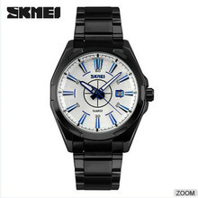 skmei stainless steel 3atm waterproof business watches,man japan movt quartz fashion watch