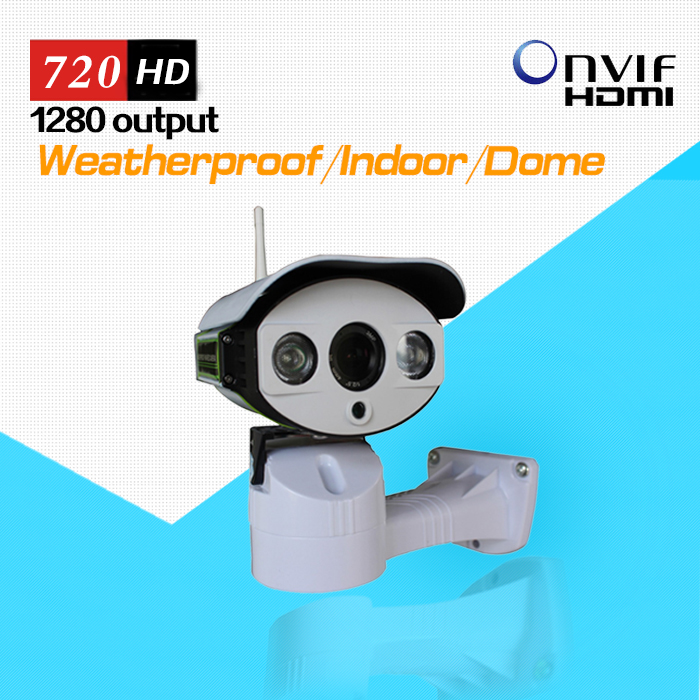 Wireless 720P HD Pan/Tilt/Zoom IP Network Camera Outdoor Weatherproof PTZ CCTV with Micro SD Slot and P2P<br>