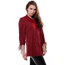 BFDADI 2016 новый женский топ свободного покроя блузка ажурная кружева манжеты кромка регулируется женская блузка бесплатная доставка 7-2217(China (Mainland))