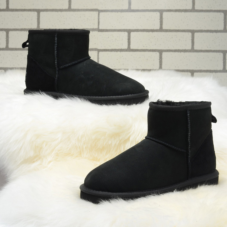 Top Quality Women Ankle boots Genuine Leather Winter Fur Boots Brand Australian Style Sheepskin Botines Mujer Women Winter Shoes