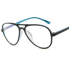 Женские и мужские очки-авиаторы в стиле ретро, большие оправы для очков, прозрачные поддельные очки с прозрачными линзами(Китай)