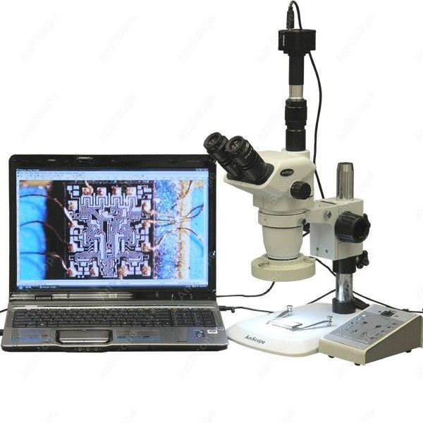 Stereo Zoom Microscope--AmScope Supplies 3.35X-225X Stereo Zoom Microscope with 80-LED Light + 8MP Digital Camera(China (Mainland))