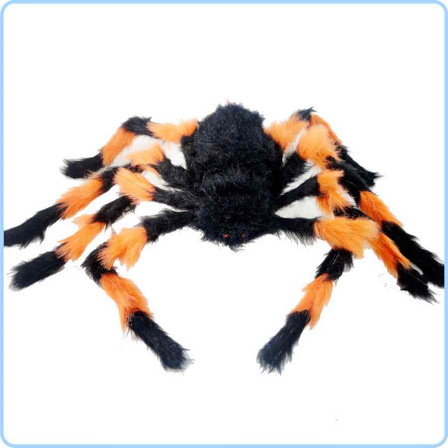 Halloween decorate color giant spider fluffy tarantula spider(China (Mainland))