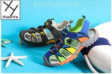 Summer Kids Boys Sandals Closed Toe Elastic Sports Beach Sandals Shoes Size 28-38