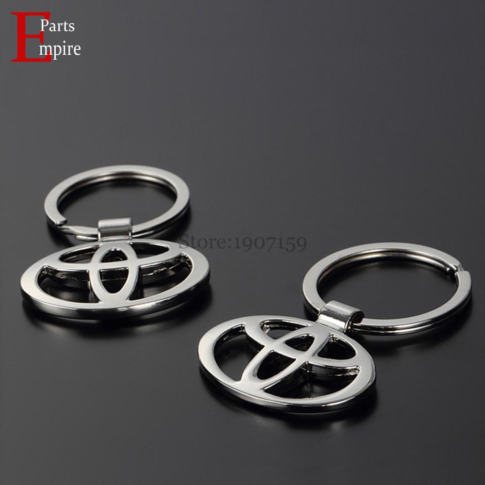 100PCS/Lot For Toyota Logo HighLander Camry Corolla Senna Yaris Prado Key Chain Rings Car Styling Badge Emblem KeyRing KeyChain(China (Mainland))