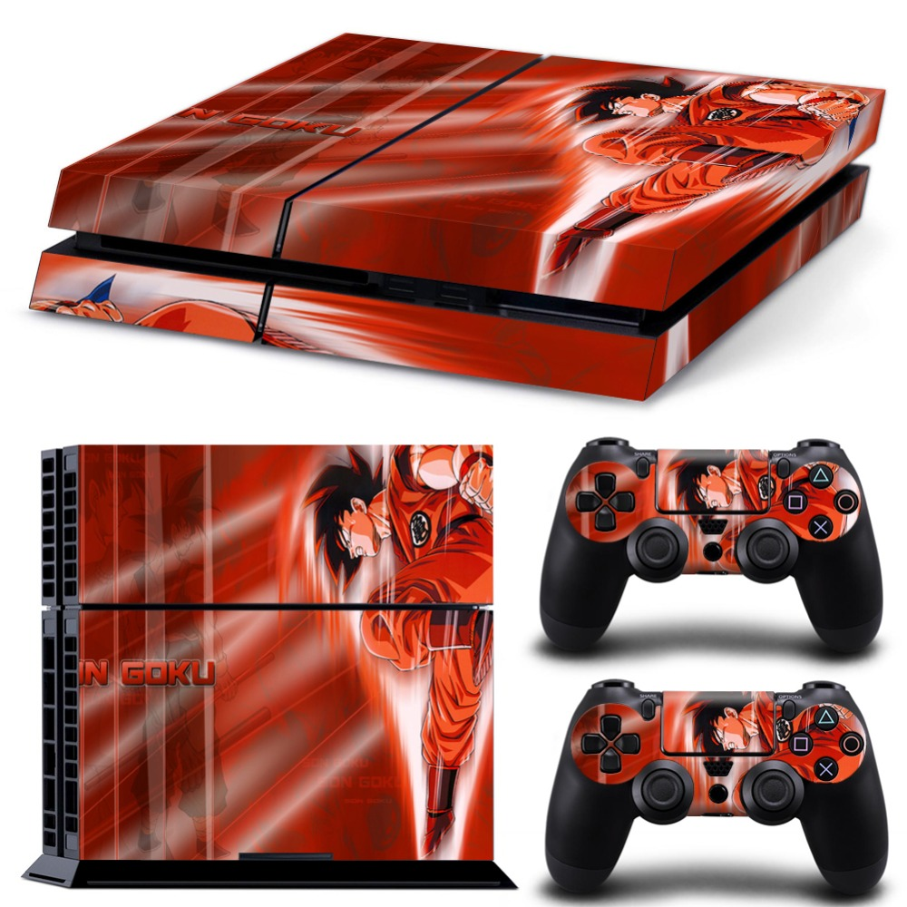Dragon ball Z PS4 Skin Decal Vinyl Sticker Cover For Playstation 4 Console and Two Controller Skin<br><br>Aliexpress