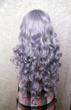 [Rozen Maiden] 80 Cm Long Wave Purple Cospaly Wig