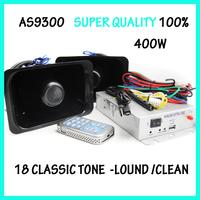 AS9300 Alarm system/400w car siren horn /Speaker alarm/18Tone / alarm sistem  / car speaker/ sirena/ electronic siren