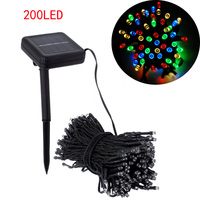 200led solar string lighting 200led christmas decoration lamps  22m outdoor solar fairy lights Free shipping