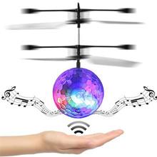 Rc Летающий Мяч Rc Беспилотный Вертолет Мяч Встроенный Диско-Музыки С Сверкающих LED Самолеты Прозрачный, светлый цвет случайным(China (Mainland))