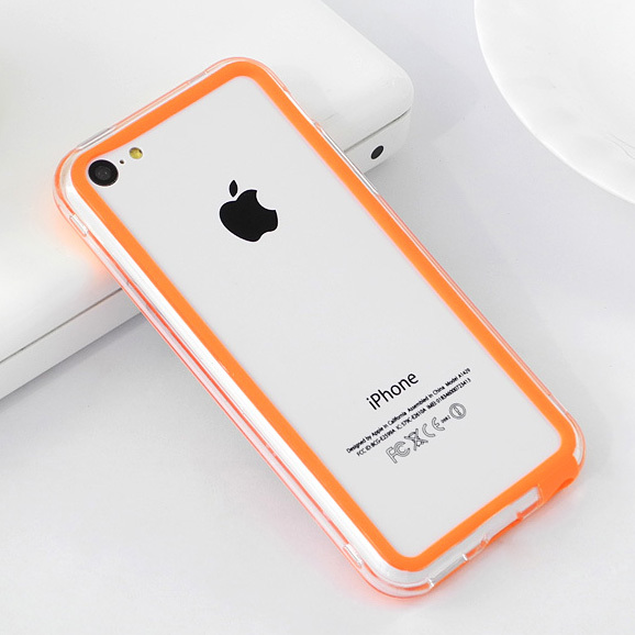 For iphone5C Brand Soft Frame Bumper Case TPU Material Soft Mobile Phone Silicone Frame For Apple iphone 5C Cell Phone Cases(China (Mainland))