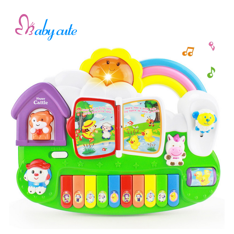 Kids Educational Toys Musical Instrument Colorful Piano Electrical Keyboard Lighting Beautiful Sound Brinquedo For Baby(China (Mainland))