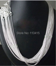 "Free Shipping wholesale 50pcs/lot Silver Plated 1mm Link Rolo Chains 16"",18"" ,20"",22"",24inch Fashion Jewelry Chains C003(China (Mainland))"